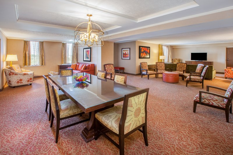 Crowne Plaza Louisville Airport Expo Center-Presidential Suite with Extensive Sectional Seating and Table<br/>Image from Leonardo