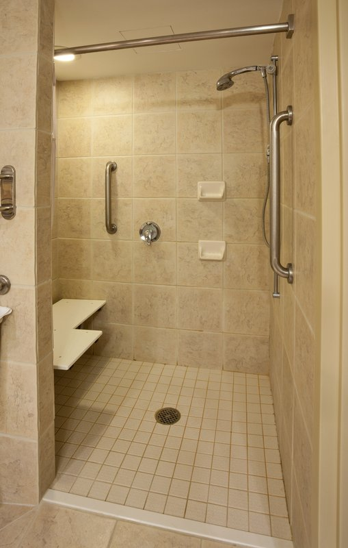 Crowne Plaza Minneapolis West-ADA/Wheelchair accessible shower<br/>Image from Leonardo