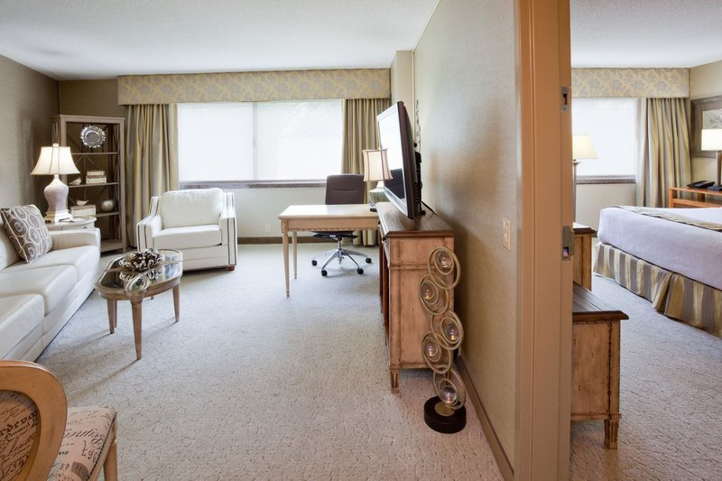 Crowne Plaza Minneapolis West-Diplomat Suite - Living room connects to king bedroom<br/>Image from Leonardo