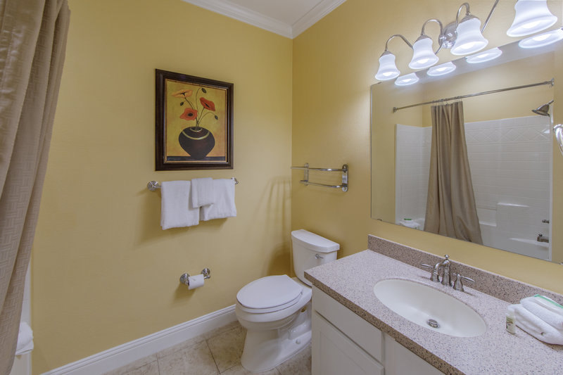 Holiday Inn Club Vacations Galveston Beach Resort-Private guest bathroom <br/>Image from Leonardo