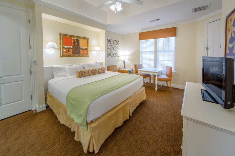 Holiday Inn Club Vacations Galveston Beach Resort-Curl up and watch TV from a king sized bed <br/>Image from Leonardo