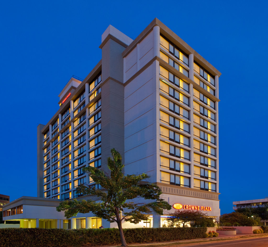 Crowne Plaza Old Town Alexandria-Nighttime view of the Crowne Plaza<br/>Image from Leonardo