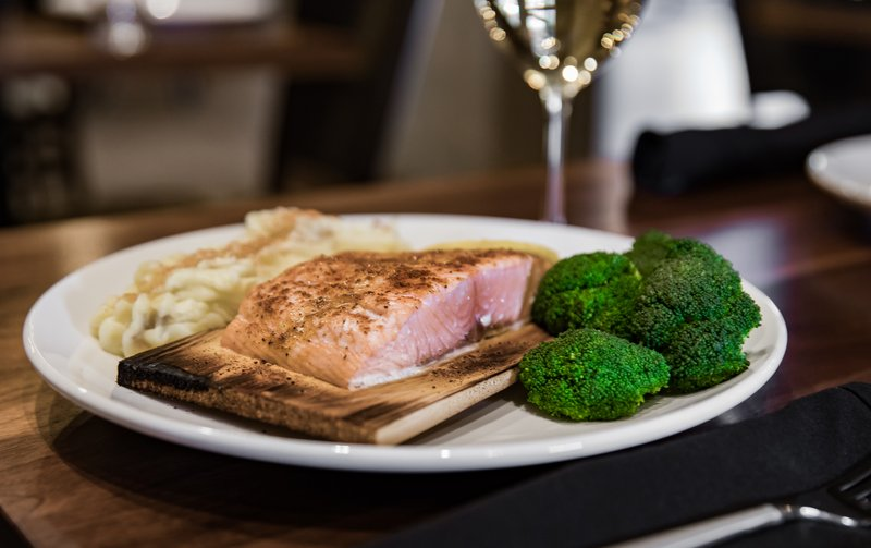 Holiday Inn Hotel & Suites Duluth-Downtown-Cedar Plank Salmon at Lyric Kitchen Bar<br/>Image from Leonardo