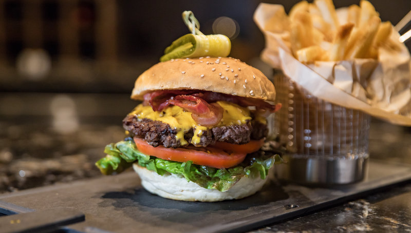 Holiday Inn Hotel & Suites Duluth-Downtown-One of many delicious burger options at Lyric Kitchen Bar!<br/>Image from Leonardo