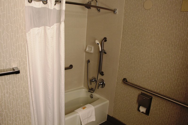 Holiday Inn Buena Park-Near Knott's-Mobility Shower Features - Suite 2 Queen Bed Accessible Room<br/>Image from Leonardo