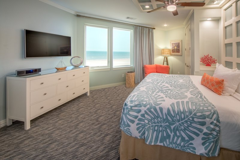 Holiday Inn Club Vacations Galveston Beach Resort-Relax with a view from your Signature Collection king sized bed <br/>Image from Leonardo