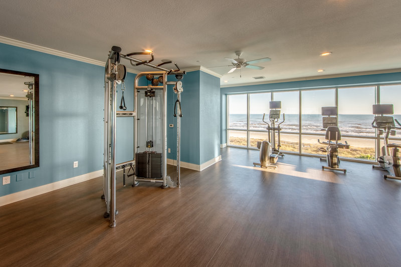 Holiday Inn Club Vacations Galveston Beach Resort-Stay on track at the Signature Collection fitness center<br/>Image from Leonardo