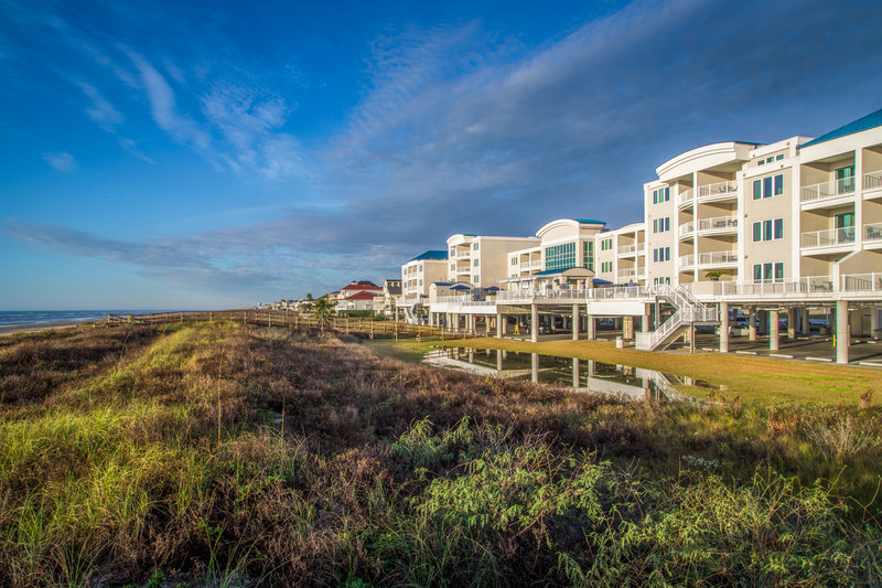 Holiday Inn Club Vacations Galveston Beach Resort-View of Signature collection building from the beach <br/>Image from Leonardo