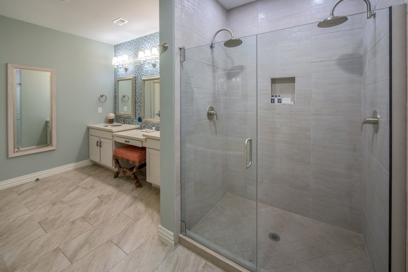 Holiday Inn Club Vacations Galveston Beach Resort-Dual shower heads in the Signature Collection bathroom<br/>Image from Leonardo
