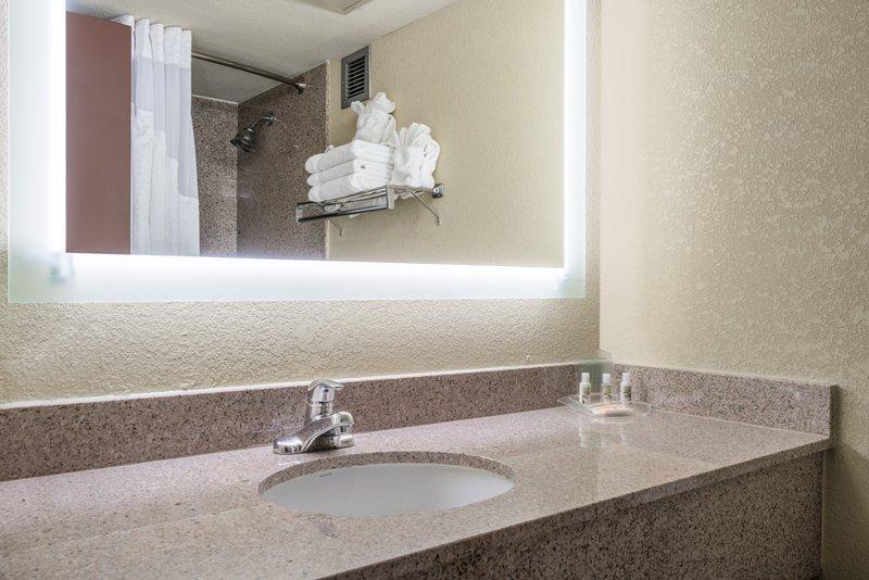 Holiday Inn Morgantown-Reading Area-Spacious bathroom stocked with amenities<br/>Image from Leonardo