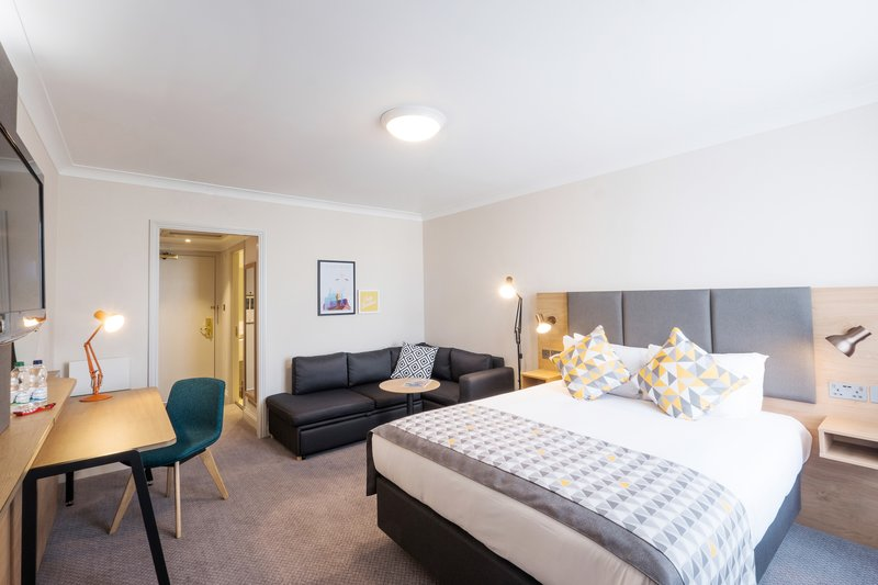Holiday Inn Farnborough-Hotel room with a sofa bed for guests<br/>Image from Leonardo