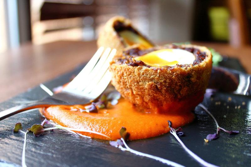 Holiday Inn Nottingham-Eaton's Brasserie Black Pudding Scotch Egg<br/>Image from Leonardo