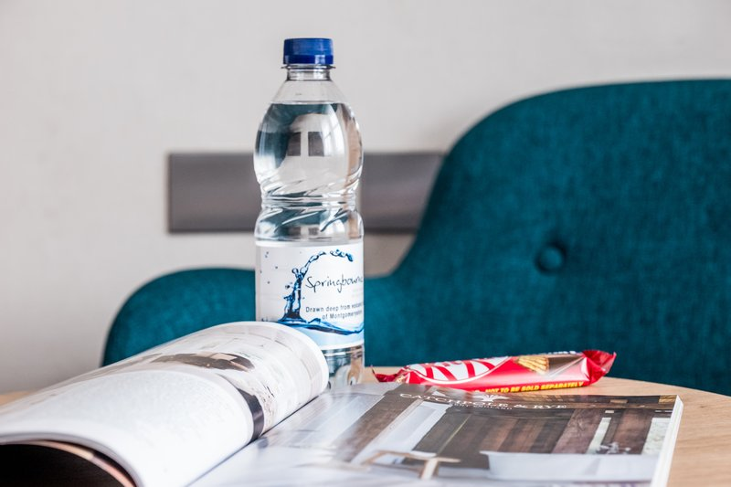 Holiday Inn Farnborough-Complimentary water and chocolate for guests<br/>Image from Leonardo