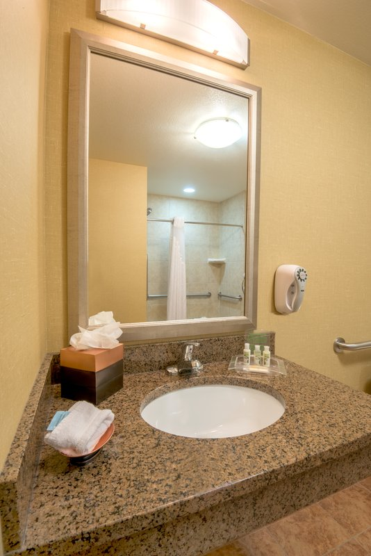 Holiday Inn Casper East - McMurry Park-ADA/Handicapped accessible Guest Bathroom vanity<br/>Image from Leonardo