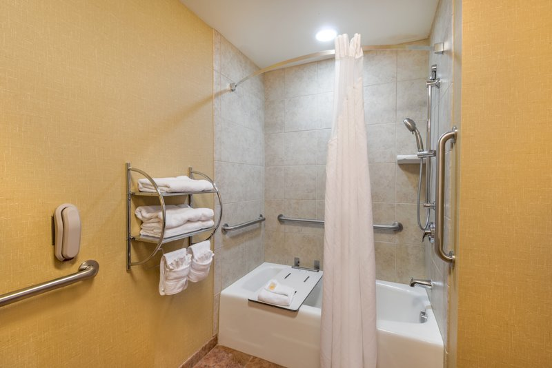 Holiday Inn Casper East - McMurry Park-ADA/Handicapped accessible Guest Bathroom with mobility tub<br/>Image from Leonardo