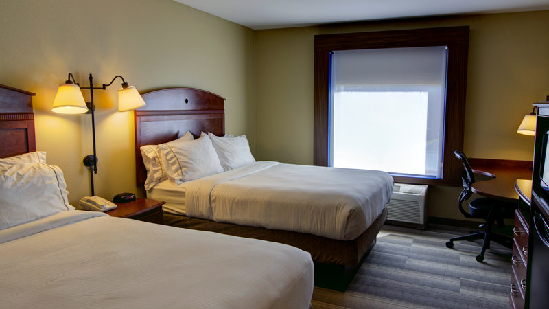 Holiday Inn Express & Suites Sioux City - Southern Hills-Two Queen bed guestroom with fridge and microwave<br/>Image from Leonardo