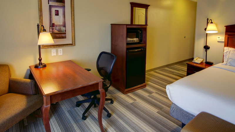 Holiday Inn Express & Suites Sioux City - Southern Hills-King Bed Guest Room with Fridge and Microwave<br/>Image from Leonardo