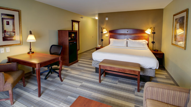 Holiday Inn Express & Suites Sioux City - Southern Hills-King Guestroom with Queen Sofa Sleeper, Fridge and Microwave<br/>Image from Leonardo