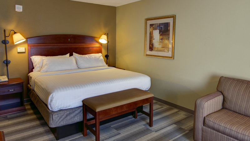 Holiday Inn Express & Suites Sioux City - Southern Hills-King Guestroom with Queen Size Sofa, fridge and microwave<br/>Image from Leonardo