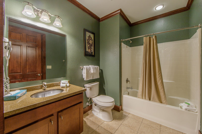 Holiday Inn Club Vacations Galveston Beach Resort-Private guest bathroom<br/>Image from Leonardo