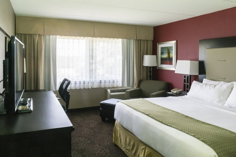 Holiday Inn Big Rapids-Standard King bed with fridge and microwave<br/>Image from Leonardo