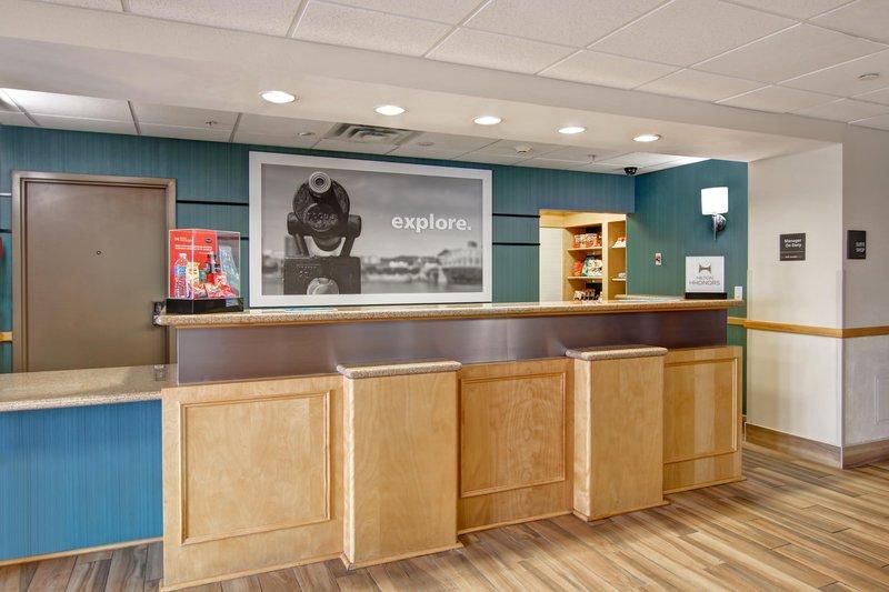 Hampton Inn &amp; Suites by Hilton Saint John-Front Desk<br/>Image from Leonardo