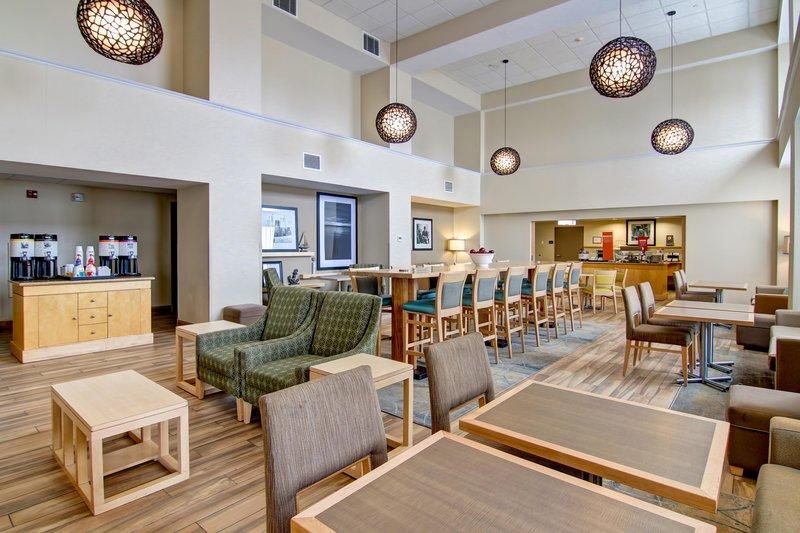 Hampton Inn &amp; Suites by Hilton Saint John-Breakfast Seating Area & Coffee Station<br/>Image from Leonardo