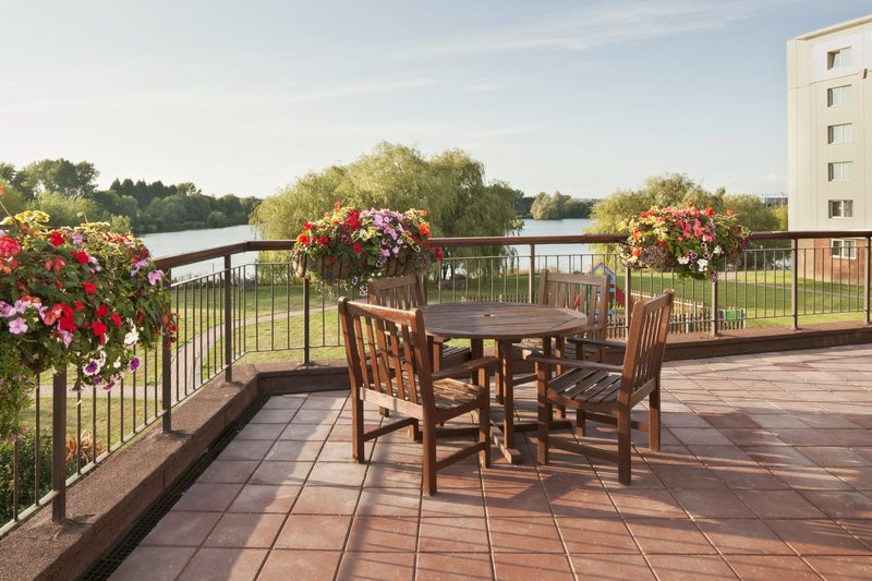 Holiday Inn Basildon-Breakfast Room Terrace overlooking the rear grounds of the hotel<br/>Image from Leonardo