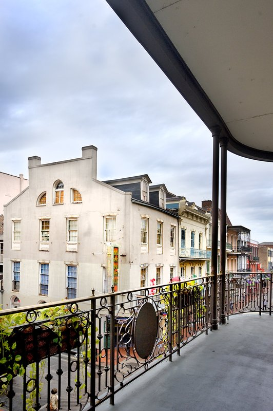 Astor Crowne Plaza French Quarter - View of Bourbon Street from Hotel Balcony <br/>Image from Leonardo