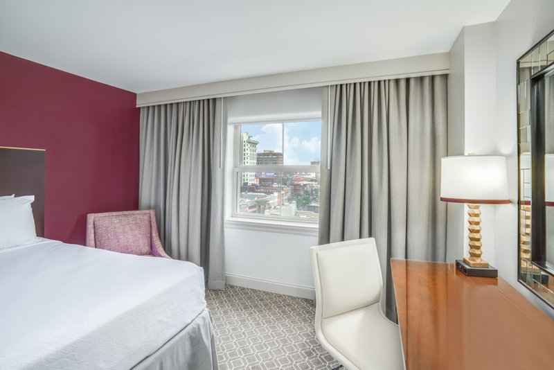 Astor Crowne Plaza French Quarter - One King Bed Guest Room with View <br/>Image from Leonardo