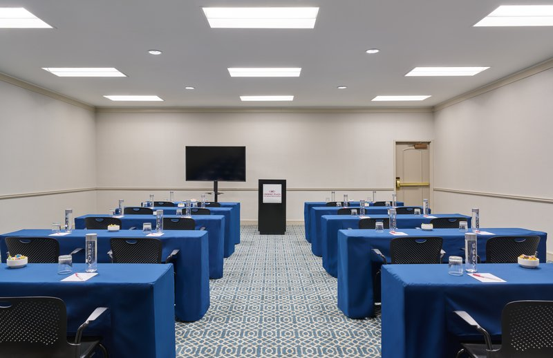 Astor Crowne Plaza French Quarter - The Iberville Room in classroom configuration. <br/>Image from Leonardo