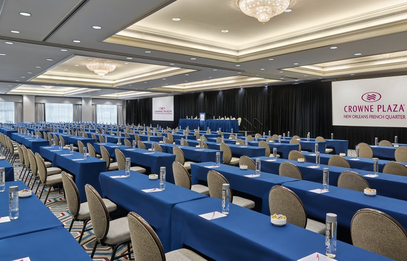 Astor Crowne Plaza French Quarter - Grand Ballroom in classroom confirguration for up to 500 attendees <br/>Image from Leonardo