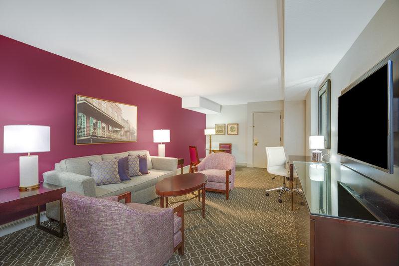 Astor Crowne Plaza French Quarter - Renovated Suite Parlor room <br/>Image from Leonardo