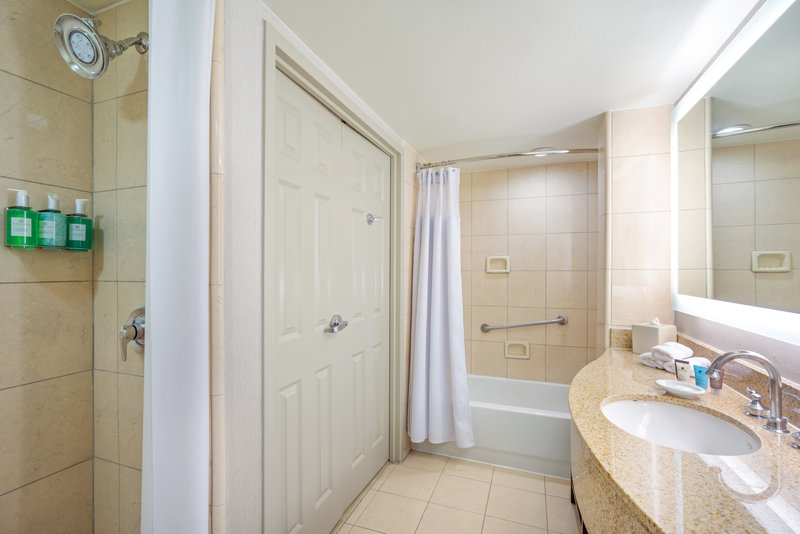 Astor Crowne Plaza French Quarter - Guest Bathroom with walk-in shower and tub <br/>Image from Leonardo