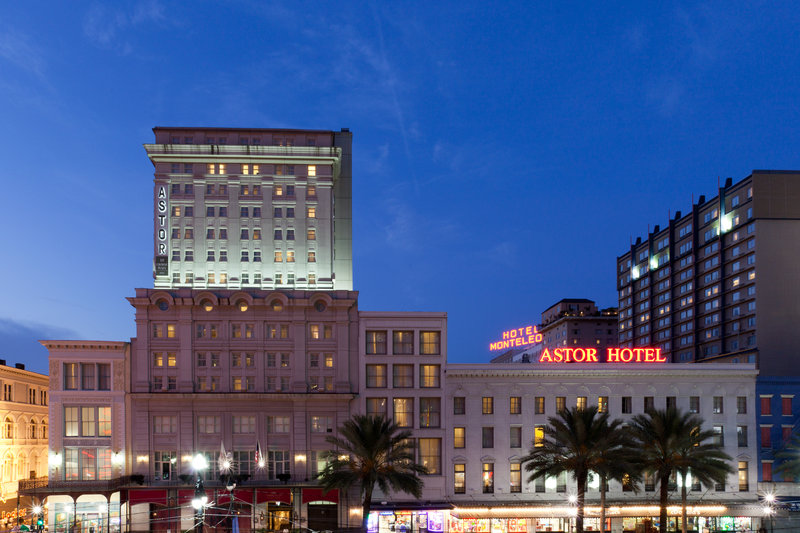 Astor Crowne Plaza French Quarter - Canal Street shopping Corridor and view of the Crowne Plaza <br/>Image from Leonardo