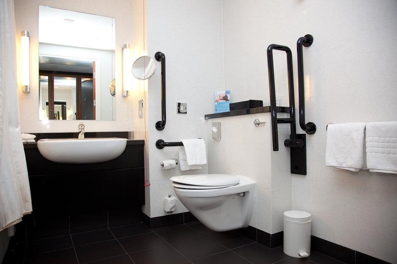 Crowne Plaza Marlow-Accessible Room Bathroom<br/>Image from Leonardo