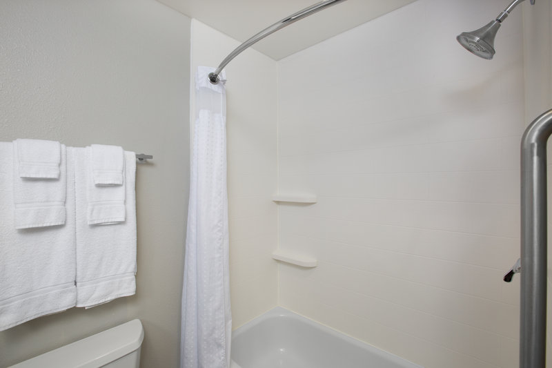 Holiday Inn Express Hastings-Guest Bathroom  with a great shower!  <br/>Image from Leonardo
