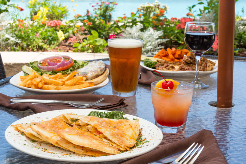 Holiday Inn Resort Daytona Beach Oceanfront-Trio of Lunch Entrees Served on our Ocean Front Deck<br/>Image from Leonardo