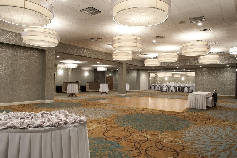 Holiday Inn Rock Island - Quad Cities-Wedding reception set up in the Grand Ballroom<br/>Image from Leonardo