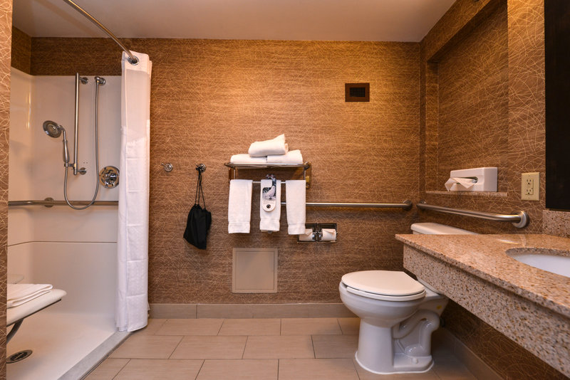 Holiday Inn Express Flagstaff-Queen Bed Accessible Guestroom with Roll-in Shower<br/>Image from Leonardo