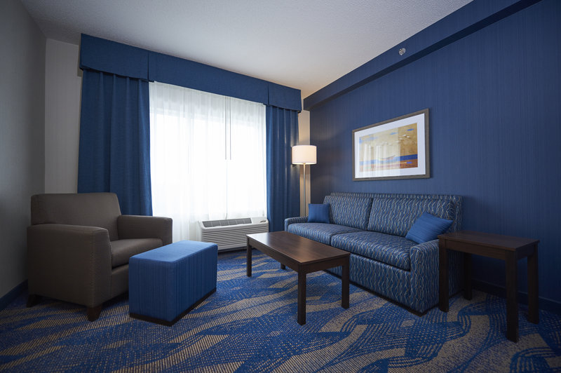 Holiday Inn Express & Suites St John's Airport-Holiday Inn Express & Suites St. John's Airport-Suite Seating Area<br/>Image from Leonardo