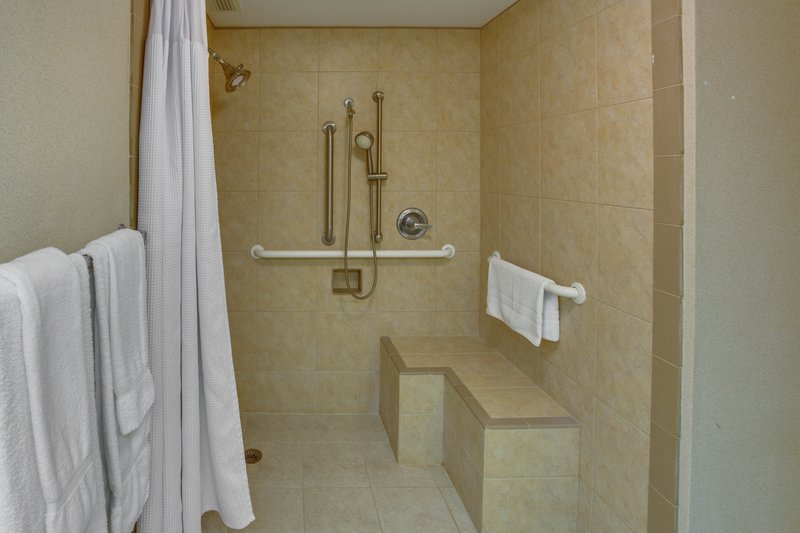 Crowne Plaza Executive Center Baton Rouge-Wheelchair accessible bathrooms available<br/>Image from Leonardo