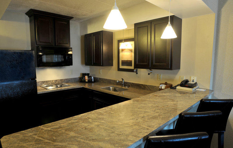 Holiday Inn Hotel & Suites Charleston West-Suites have full kitchens available for guest use<br/>Image from Leonardo