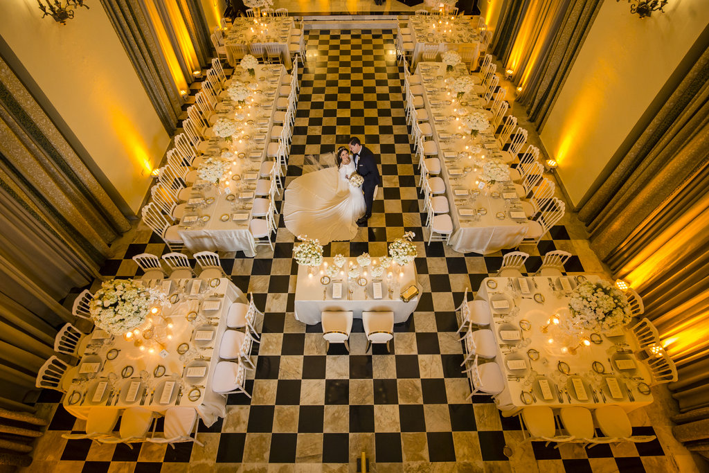 Hotel El Convento - Salon Campeche White Wedding <br/>Image from Leonardo