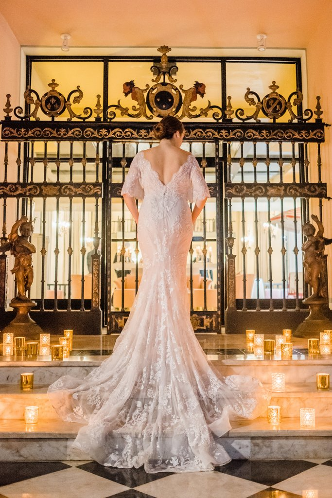 Hotel El Convento - Bride At Campeche Entrance <br/>Image from Leonardo