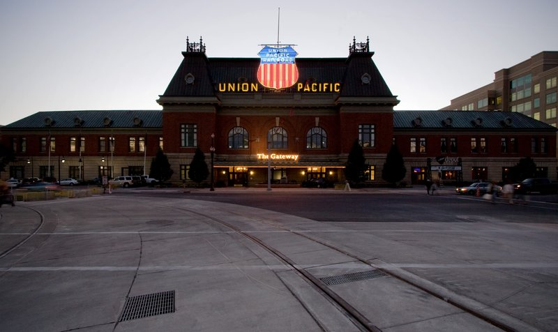 Holiday Inn Express & Suites Salt Lake City - Airport East-Union Pacific Station downtown Salt Lake five miles from hotel.<br/>Image from Leonardo