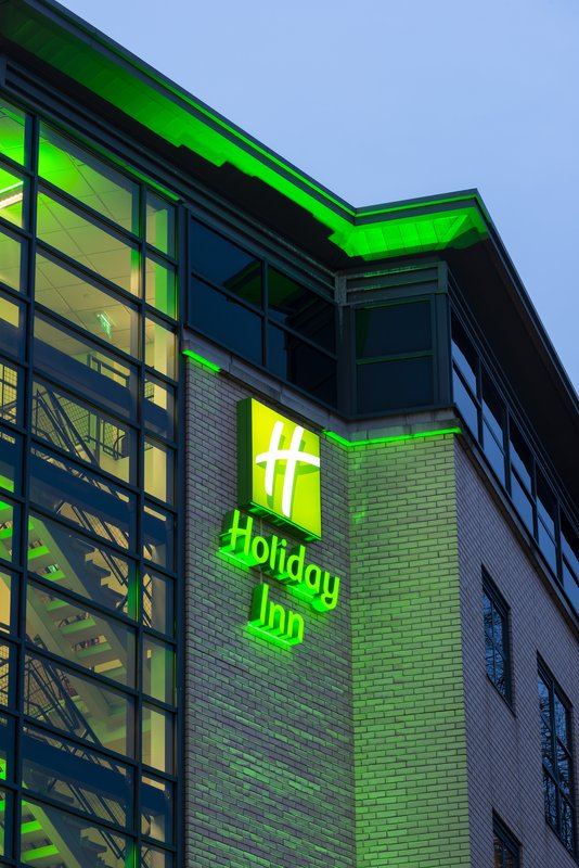 Holiday Inn York City Centre-Holiday Inn York City Centre Sign at Night<br/>Image from Leonardo