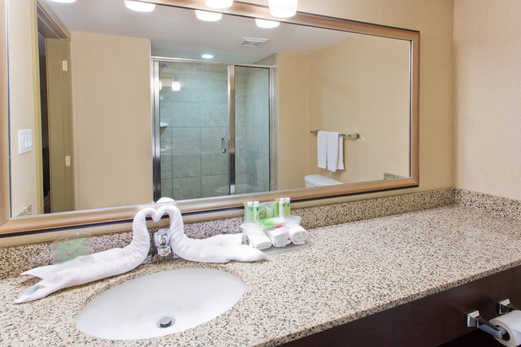 Holiday Inn Express & Suites Courtenay Comox Valley SW-Suite Guest Bathroom vanity<br/>Image from Leonardo