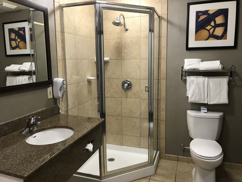 Holiday Inn Express & Suites Barstow - Outlet Center-Guest Bathroom<br/>Image from Leonardo