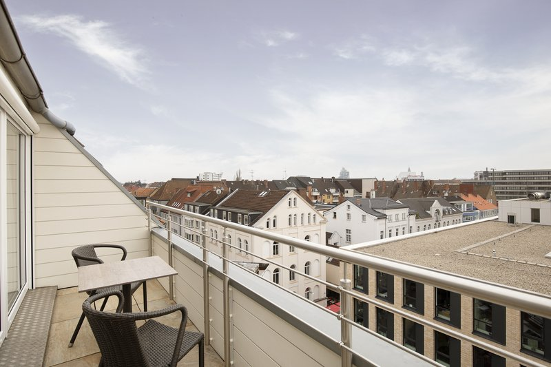 Crowne Plaza Hannover-A view over the rooftops of Hannover from a hotel balcony.<br/>Image from Leonardo